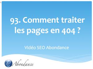Comment traiter les erreurs 404 ?