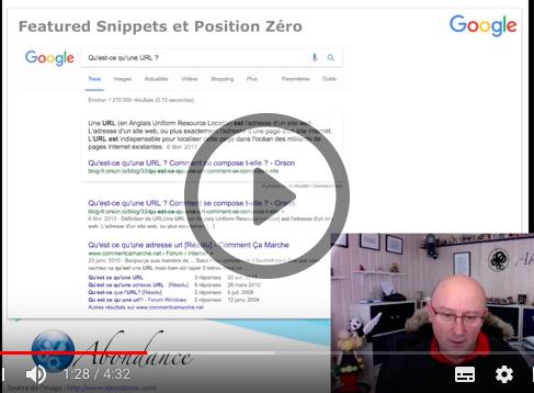 Featured Snippet et Position Zéro : Kezaco ? Vidéo SEO