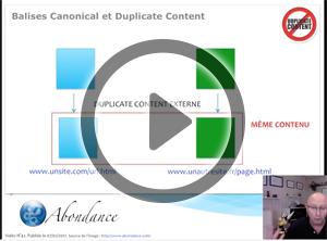 Balise Canonical et Duplicate Content. Vidéo SEO