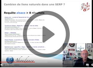 Combien de liens naturels dans une SERP Google ? Vidéo SEO