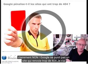 Google pénalise-t-il les erreurs 404 ? Vidéo SEO
