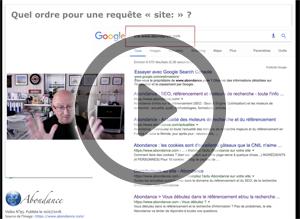 Dans quel ordre Google affiche-t-il ses résultats sur une requête « site: » ? Vidéo SEO