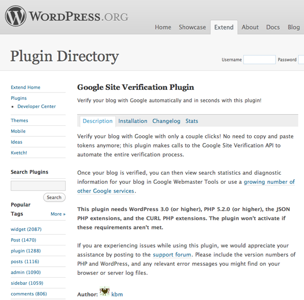 Plugin WordPress GWT