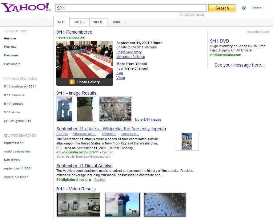 Nouveau look Yahoo!
