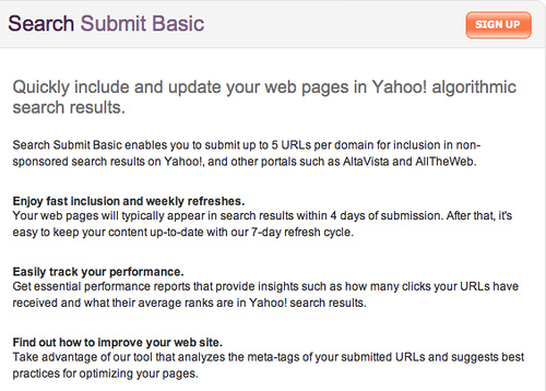 Yahoo! Search Submit