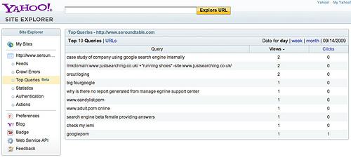 Yahoo! Site Explorer