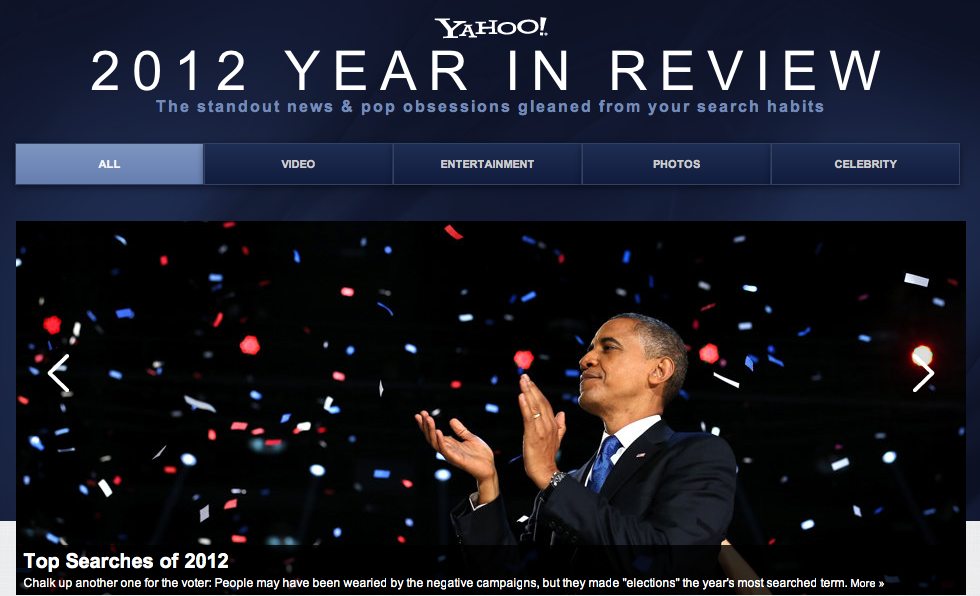 yahoo year in review 2012