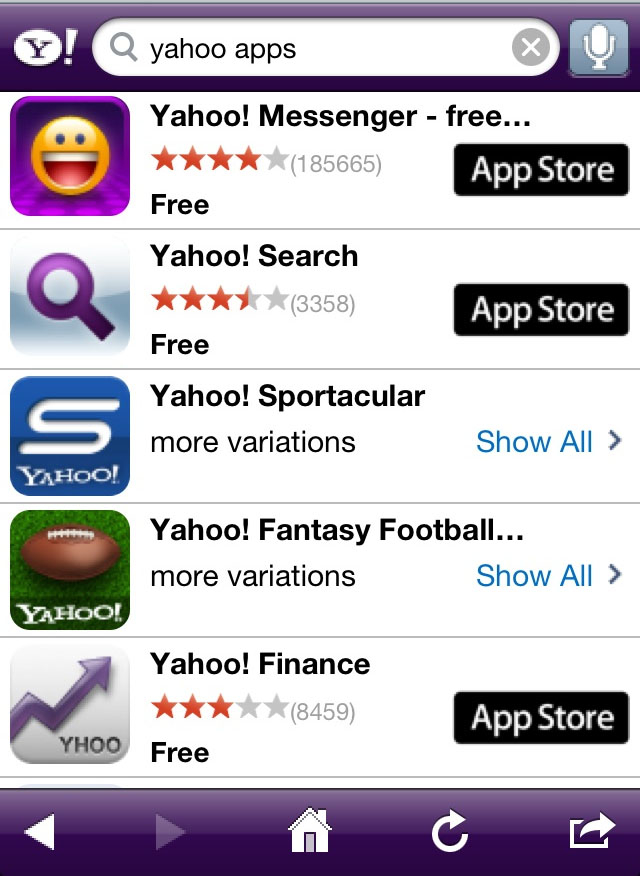 Yahoo! iPhone