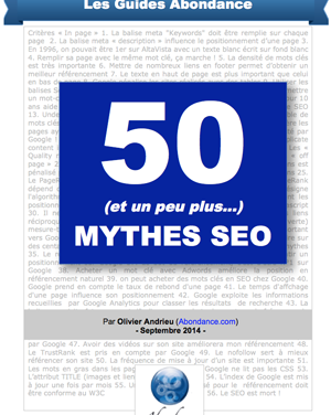 50 mythes SEO : le guide PDF