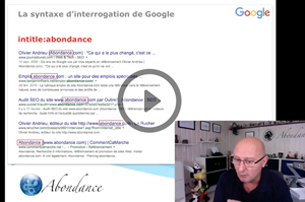 La syntaxe d'interrogation avancée de Google – Vidéo SEO