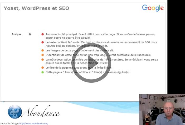 Faut-il suivre les indications de l'extension Yoast sur WordPress ? Vidéo SEO