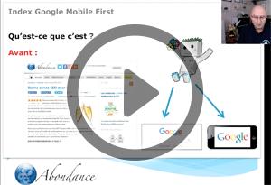 L'Index Mobile First de Google, Comment s'y Préparer ? Vidéo SEO