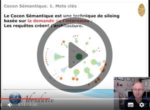 Le Cocon Sémantique : 1. Introduction et choix des mots clés. Vidéo SEO