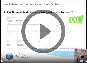 Les Balises de Données Structurées (suite). Vidéo SEO