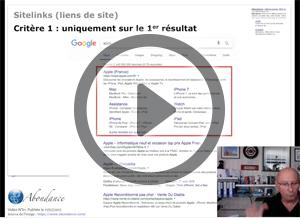 Les SiteLinks (Liens de Site), comment ça marche ? Vidéo SEO