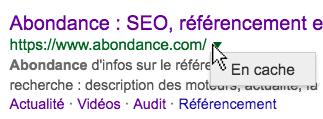 Définition : Le Cache Google, c'est quoi ?