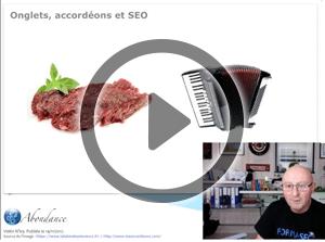 Onglets, Accordéons et SEO – Vidéo SEO