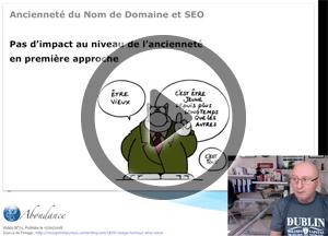Ancienneté du nom de domaine et SEO – Vidéo SEO