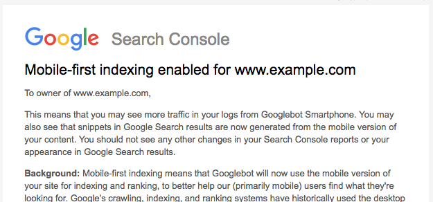 message-mobile-first-search-console