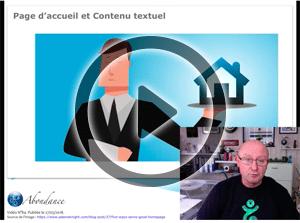 Texte Statique et Page d'Accueil – Vidéo SEO