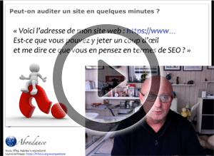 Peut-on faire un audit SEO rapide d'un site web ? Vidéo SEO