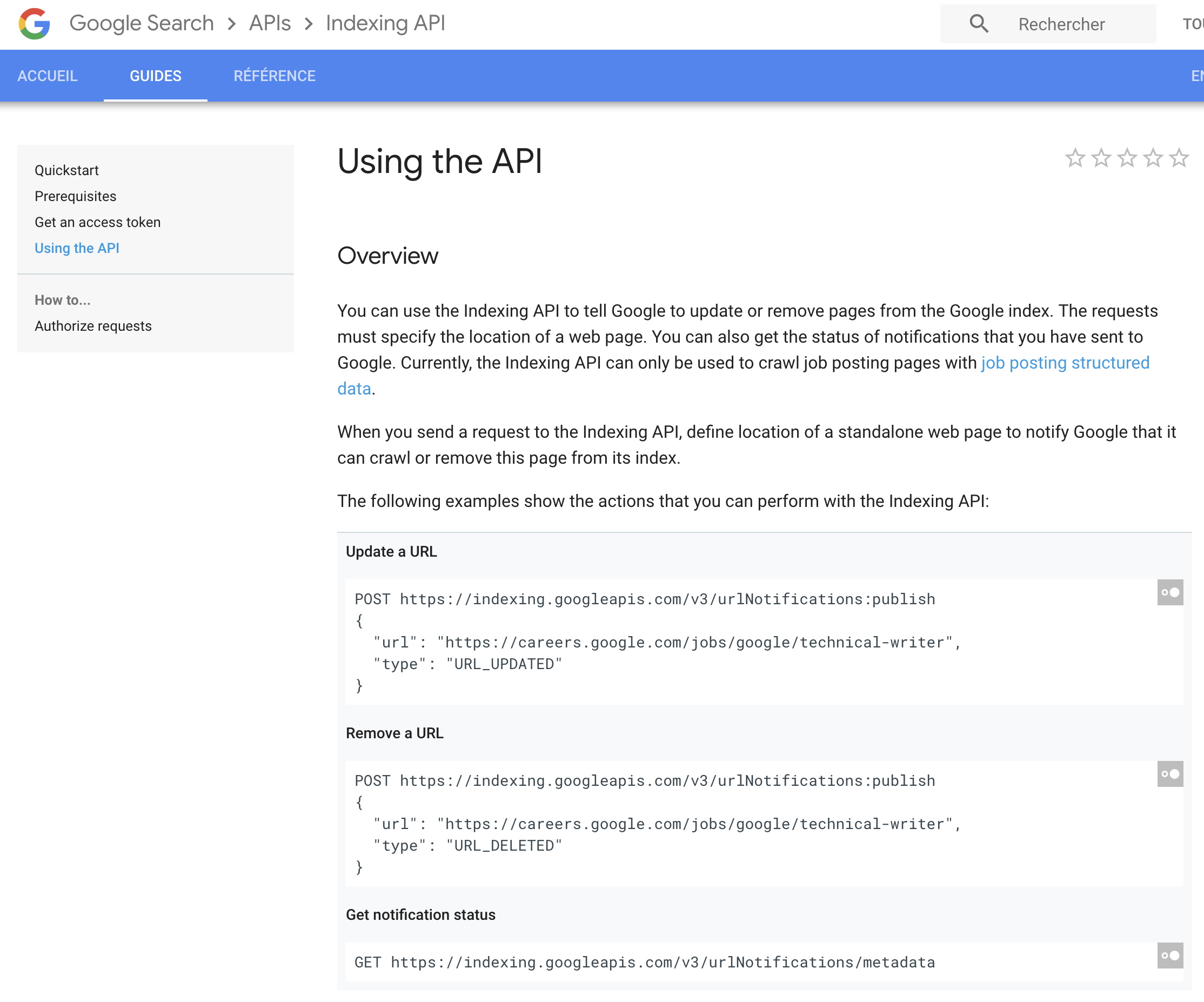google-indexing-api