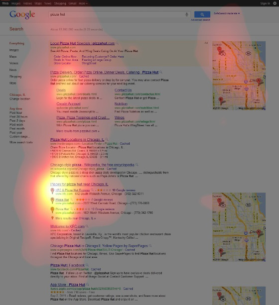 Eye-Tracking Google SERPs - 5 Tales of Pizza - SEOMoz