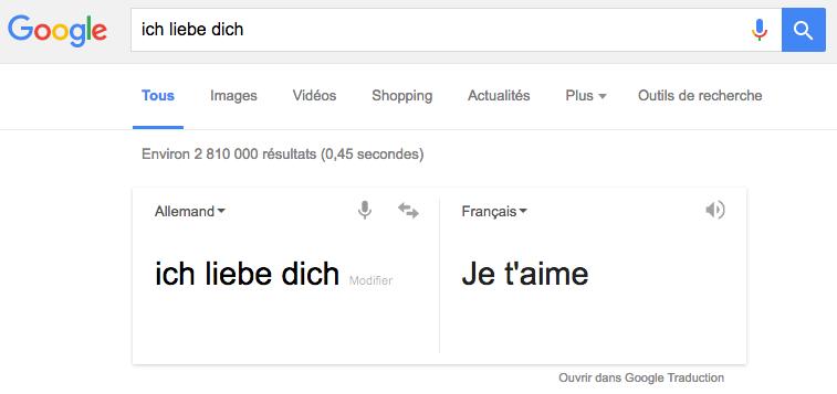 Ich Liebe Dich Google