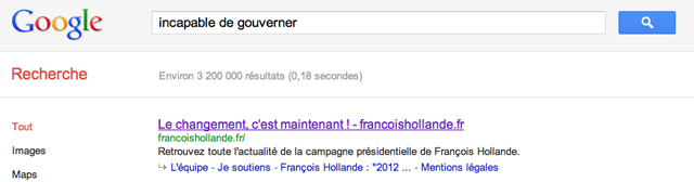 Incapable de gouverner Francois Hollande