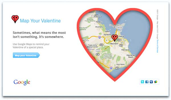 Map Your Valentine