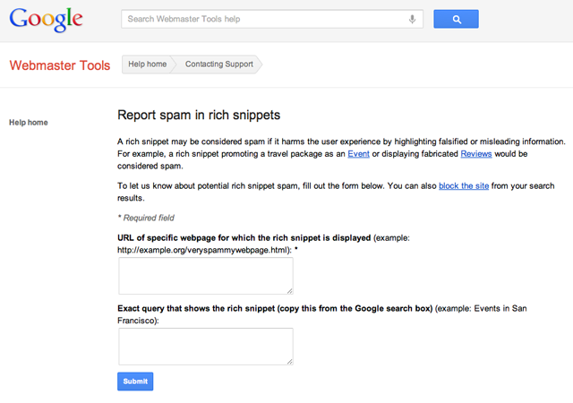 Spam Rich Snippets