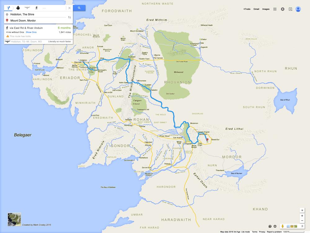 Carte Terre Du Milieu Hd.La Terre Du Milieu En Version Google Maps Actualites Seo