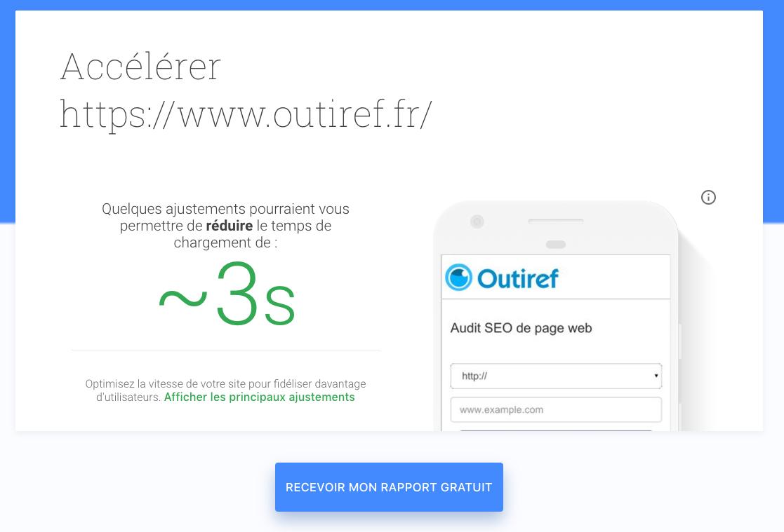 Google améliore l'outil Test my Site - Actualités SEO et