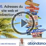 Adresse canonique d'un site web et redirections 301 – Vidéo SEO