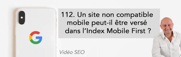 Un site non compatible mobile peut-il être versé dans l'Index Mobile First ? –  Vidéo SEO numéro 112