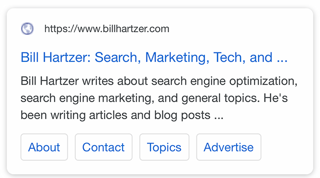 same site with the favicon replaced with the default picto favicon in mobile serp