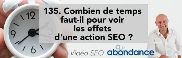 Combien de temps faut-il pour voir les effets d'une action SEO ? – Vidéo SEO numéro 135