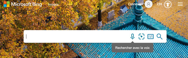 Bing propose la recherche vocale en première page