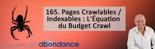 Pages Crawlables / Indexables : L'Équation du Budget Crawl – Vidéo SEO Abondance N°165