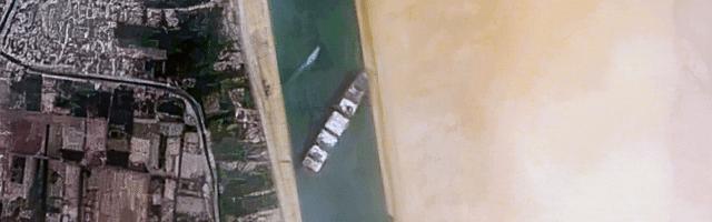 Ever Given : un easter egg Google sur le blocage du canal de Suez