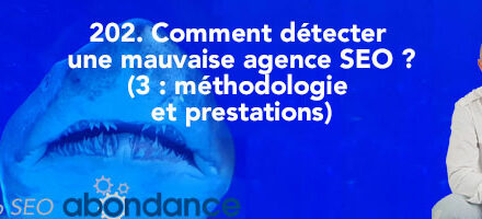 Comment détecter une mauvaise agence SEO (3e partie : Méthodologie et prestations) ? –  Vidéo SEO Abondance N°202